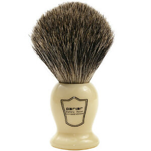 100-Pure-Badger-Bristle-Shaving-Brush-with-Faux-Ivory-Handle