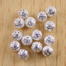 100pcs Silver tone rotundity Craft Beads h0218