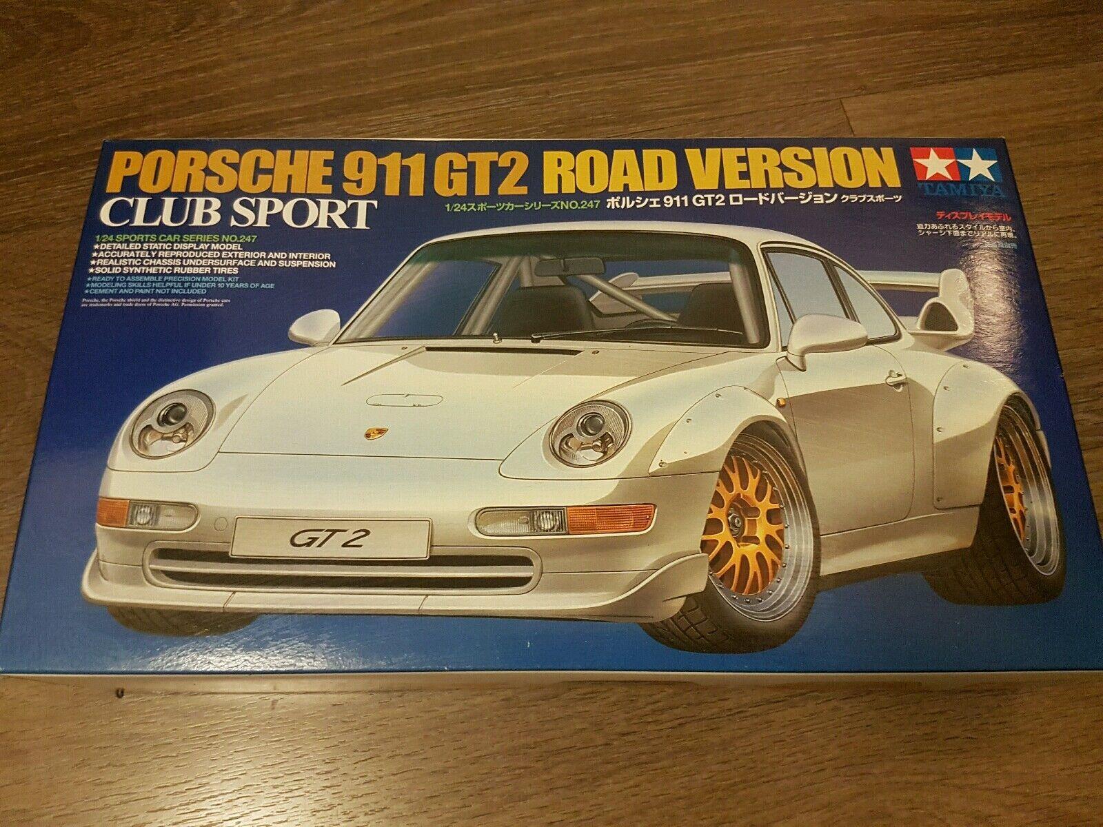 Tamiya 1 24 Tamiya 911 GT2 Road Version Club Sport Great Condition Rare