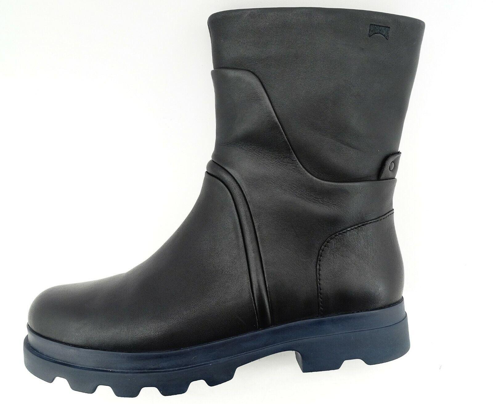 CAMPER Damen Schuhe Supersoft schwarz Schwarz Stiefelleten Stiefel Leder Gr 38