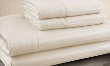 Queen Size Beige 500 Thread Count 100% Cotton Sateen Dobby Stripe Sheet Set