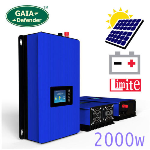 2000W Solar Panels on Grid Tie Inverter with Limiter Battery Power Home PV 2000G