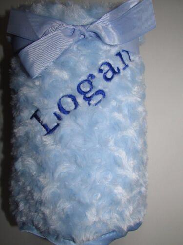 Personalised Luxury Baby Blanket Fluffy Soft Boy/&Girl Gift Newborn Christening