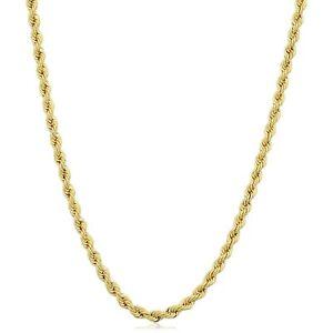 Edelmetall Ohne Steine 2.1mm Breiter Offizielle Website 14k Gefülltes Gelbgold Solides Seil Halskette