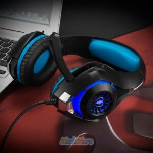Pro Gaming Headset for PS4/Xbox One/PC Headphones Mic Stereo Bass Surround Sound