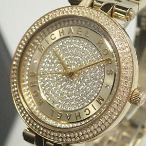ef551eeeb9b0 Michael Kors Women s Mini Darci Gold-Tone Watch MK3445 796483214736 ...