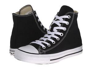 Converse-All-Star-Hi-Tops-Black-White-Mens-Womens-Sneakers-Tennis-Shoes-M9160