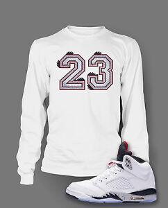 b72a0d42f 23 Graphic Tee shirt To match AIR JORDAN 5 WHITE CEMENT Shoe Custom ...