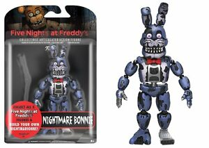 "New 2017 Five Nights At Freddy's NIGHTMARE BONNIE 5"" Figure IN STOCK"