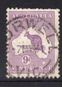Australia-Victoria-MORWELL-1931-postmark-on-9d-Kangaroo-SMW