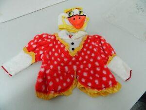 promo code a05ad a15b1 Dettagli su Vestito Costume Carnevale PAPERO PAPERA bambini neonati 9 12  mesi C42