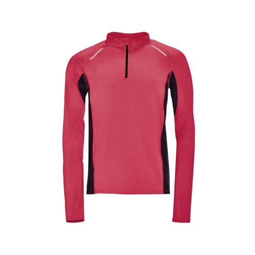 SOL/'S Long Sleeve Zip Neck Running Lightweight Activity Sports Top Breathable