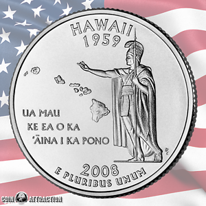 State Quarter Single Coin Uncirculated 2008 P Hawaii U.S