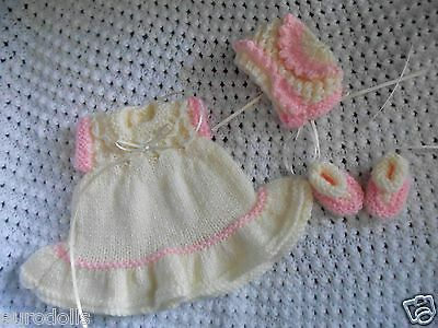 "Doll Clothes Cream dress Handcrafted  fit Kewpie Cameo, Asthon Drake 10"" 12in."