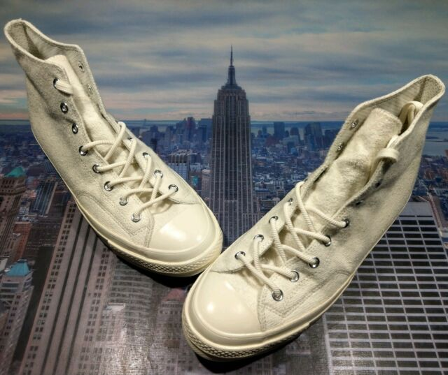 Converse Chuck Taylor All Star 70 Hi High Top French Terry Egret Size 12 159660C
