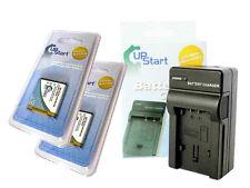 2X Battery+Charger for Fujifilm FUJI NP-50 FinePix F85EXR PENTAX D-LI68 S12 S10~