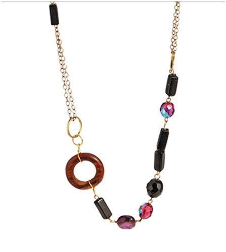 Fair Trade Midnight Wooden Necklace.