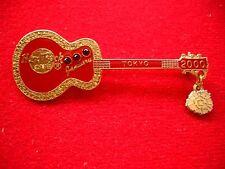 HRC Hard Rock Cafe Tokyo Calendar Guitar Series 2000 January Red Acoustic LE