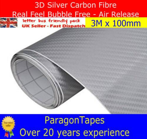 Multi List 3D SILVER CARBON FIBRE Bike Frame Vinyl Wrap film Car Tape JDM GTI