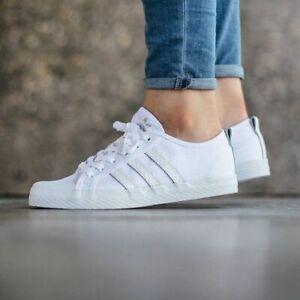Barricada Refrigerar Sandalias  Adidas Honey Low Women's Honeycomb Triple Stripe Canvas White Trainer Shoe  | eBay