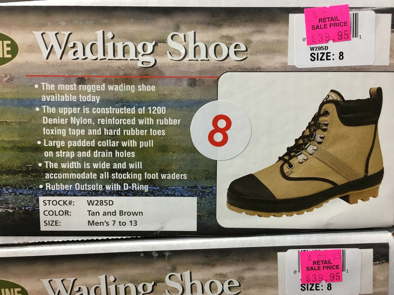 PRO LINE WADING BOOTS SHOES W285D MEN'S SIZE 8   50% OFF AMAZON PRICE    NEW