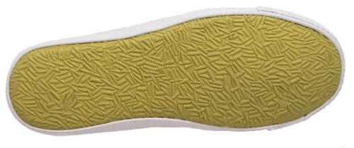 Mens Lona Playera Zapatos Blanco Con Cordones Casual dek tamaños de 6 a 12