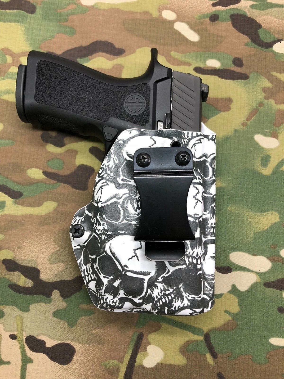 Skull Kydex IWB Holster for Sig Sauer P250 Compact Streamlight TLR-7