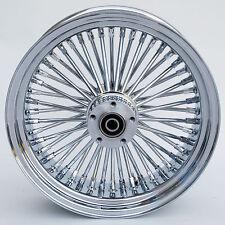 """Chrome 48 Ultima King Spoke 16"""" x 5.5"""" Rear Wheel for Harley & Custom Models"""