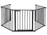 Baby Safety Fence Hearth Gate Bbq Metal Fire Gate Fireplace Pet Dog Cat Fence on sale