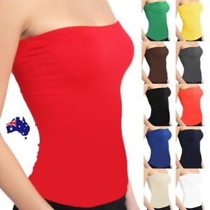 Women-Stretch-Strapless-Boob-Tube-Top-Solid-Color-Seamless-Sleeveless-Singlet