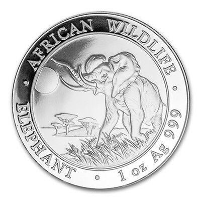 1oz SILVER Coin UNC 2018 Somalia 100 Shillings African Wildlife Elephant
