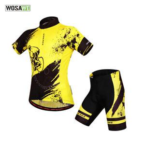 Mens-Cycling-Short-Sets-MTB-Road-Team-Bike-Jersey-Gel-Padded-Shorts-Sports-Kits