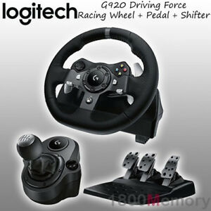 Details about Logitech G920 Driving Force Racing Wheel for Xbox One PC MAC  with Gear Shifter