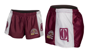 Queensland Maroons State Of Origin 2018 Classic Hero Footy Shorts Size S-4XL