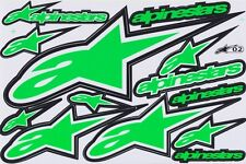 Green alpinestars Racing logo Moto-GP Vinyl Sticker Car Bike Truck Kits Decals