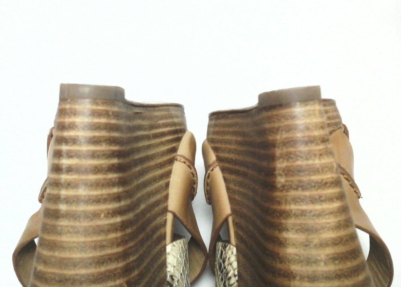 COLE HAAN SANDALS Damens HEELS Wedge tan SANDALS HAAN snake Strappy US 7 EU 37.5 228 5d9f62