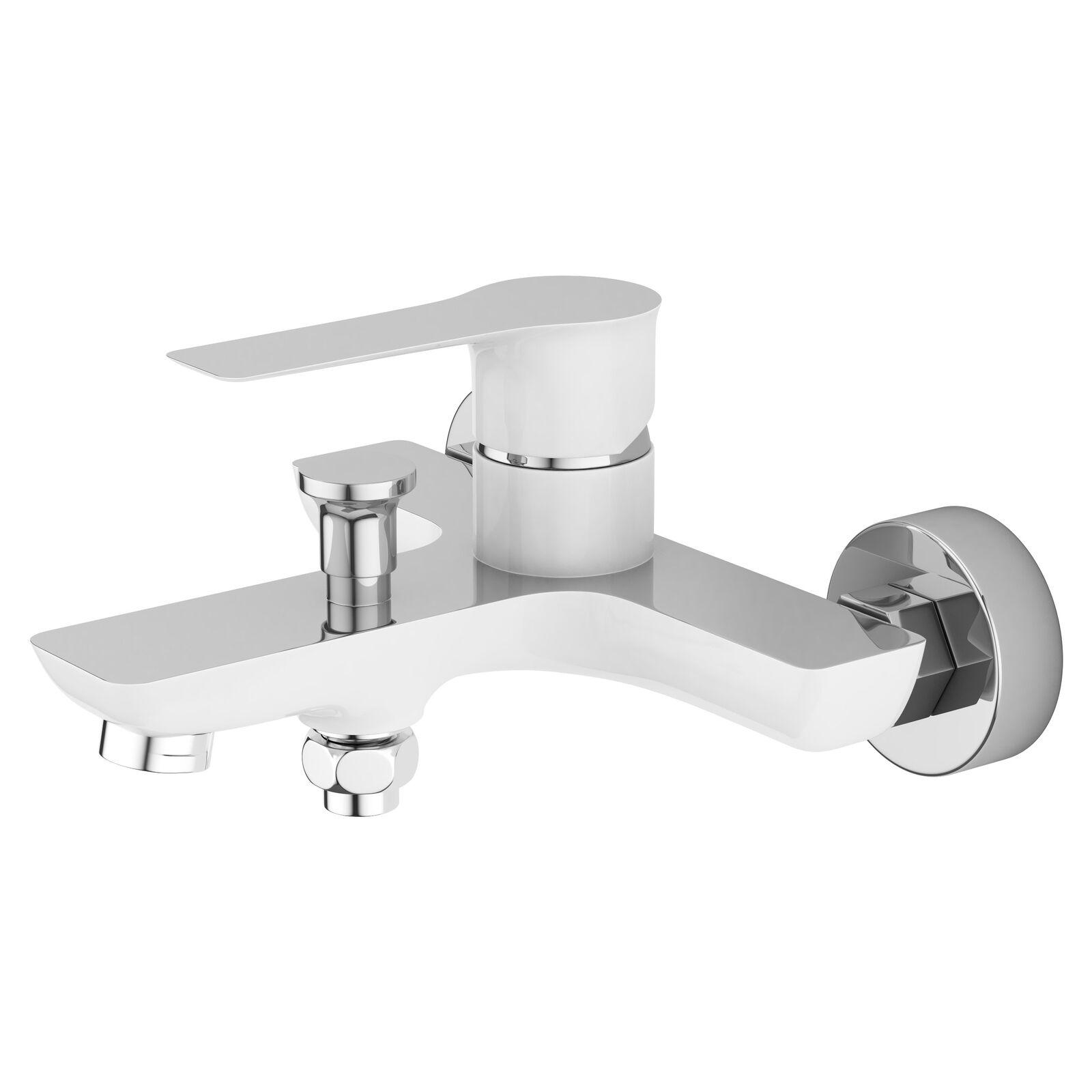 Wannenarmatur Armatur Weiß & Chrom Badewannenarmatur Einhandmischer Einhandmischer Einhandmischer Badewanne dc4d71