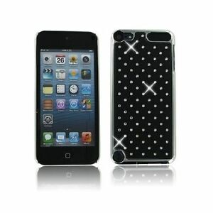 For-Apple-iPod-Touch-5-6-Black-Spot-Diamond-Rhinestone-Crystal-Bling-Case-Cover