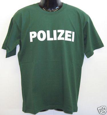 Abile Fun T-shirt * Polizia Verde S-xxl-mostra Il Titolo Originale Alleviare Il Caldo E Il Colpo Di Sole
