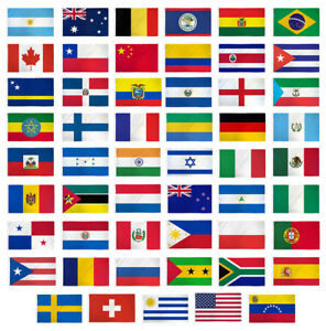 3x5 Flag Set Of 53 Country Countries Polyester Flags 3 X5 Grommets Ebay