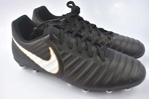 eff5c20ce6 Nike Tiempo RIO IV FG Soccer Cleats Mens size 8 Black White 897759 ...