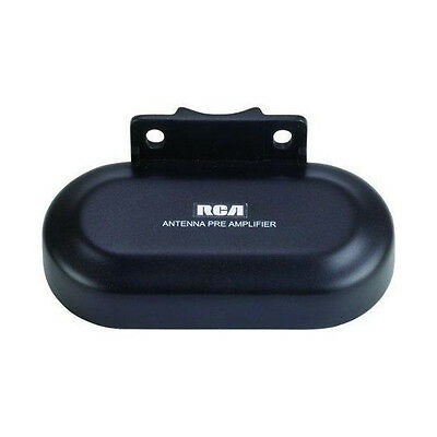 RCA TVPRAMP1E Digital Preamplifier for Outdoor Antenna FM VHF UHF 16dB//22dB Gain
