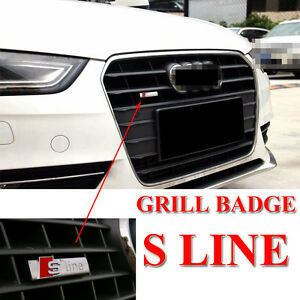 s line grill chrome matt ome top quality alloy emblem. Black Bedroom Furniture Sets. Home Design Ideas