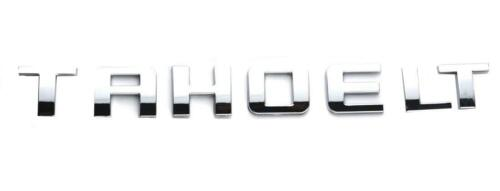 Tahoe LT Emblem Badge Nameplate Letter Replacement for GM Chevrolet Chrome