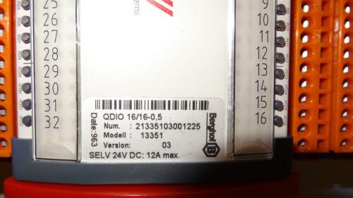 BERGHOF QDIO 16/16 0,5 13351 Digitales I/O E/A Erweiterungsmodul EBus CAN