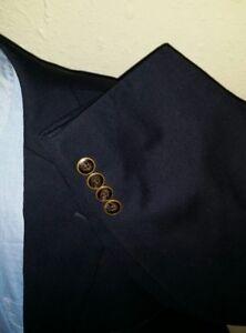 Neuf-Joseph-amp-Feiss-Gold-56r-Executif-Marine-Serge-Blazer-Veste-de-Costume