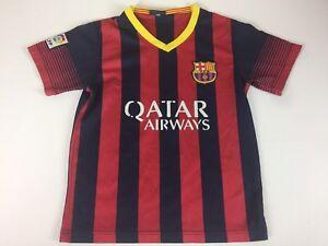 designer fashion eaf4f 4f19a Details about FCB FC Kids 24 7-8 Barcelona Qatar Neymar Jr. Soccer Jersey  Unicef #11 Shirt