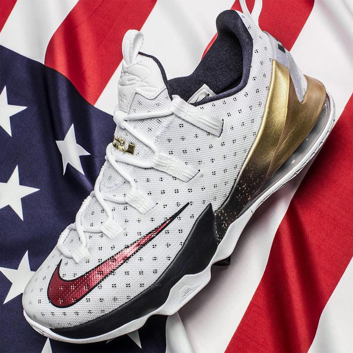 Nike lebron 13 xiii basso usa medaglia d'oro di dimensioni 831925-164 cavs mvp