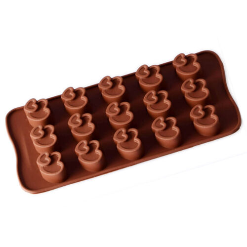 1× 3D Chocolate Mold Bar Block Heart Pattern Ice Silicone Cake Candy Bake Mould