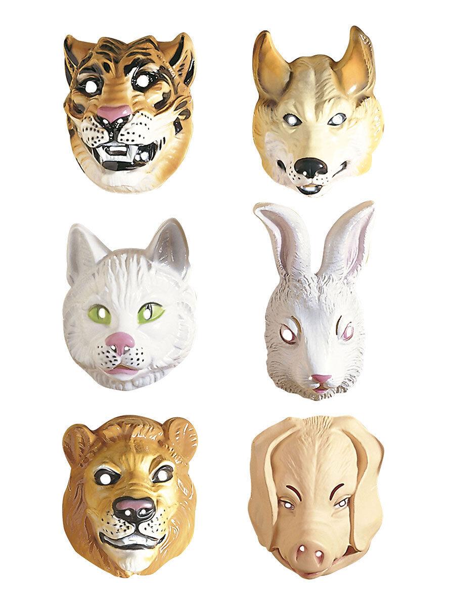 Wolf Maske Wolfsmaske Wolfs Maske Wolfmaske Isegrim Märchen Tiermaske braun